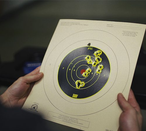 What is the best stance & sight picture for target shooting a pistol?